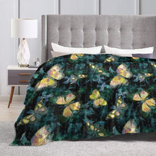 "Load image into Gallery viewer, Usie2s Throw Many Beautiful Butterflies Custom Fleece Plush Throw Blanket Smooth and Soft Microfiber Blanket Flannel Sofa Chair Bed Blanket Office New Year Gift Men and Women 80""x60"""