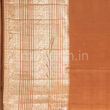 Load image into Gallery viewer, Kanjivaram Chocolate Brown Silk Saree