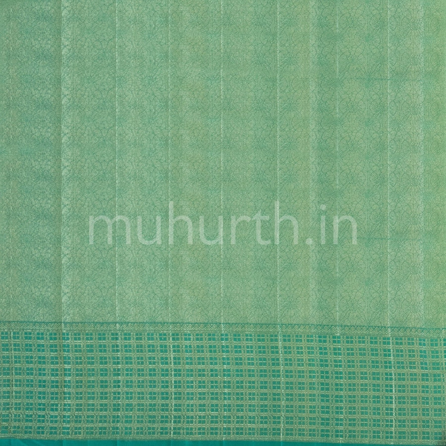 Kanjivaram Golden Mustard Silk Saree With Ananda Checks Muhurth