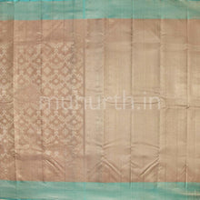 Load image into Gallery viewer, Kanjivaram Light Brown With Ananda Silk Saree