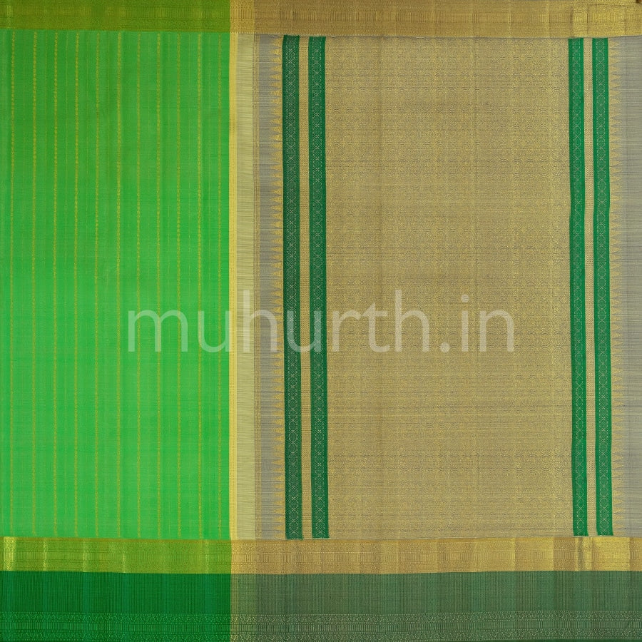 Kanjivaram Light Green Silk Saree