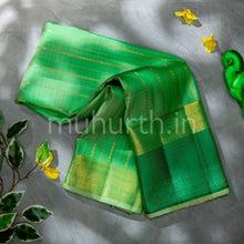 Load image into Gallery viewer, Kanjivaram Light Green Silk Saree