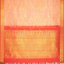 Load image into Gallery viewer, Kanjivaram Light Pink Silk Saree With Bright Red