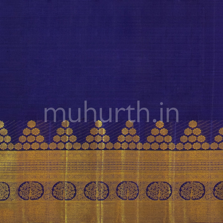 Kanjivaram Orange Silk Saree With Vijaya Muhurth