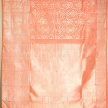 Load image into Gallery viewer, Kanjivaram Peach Silk Saree