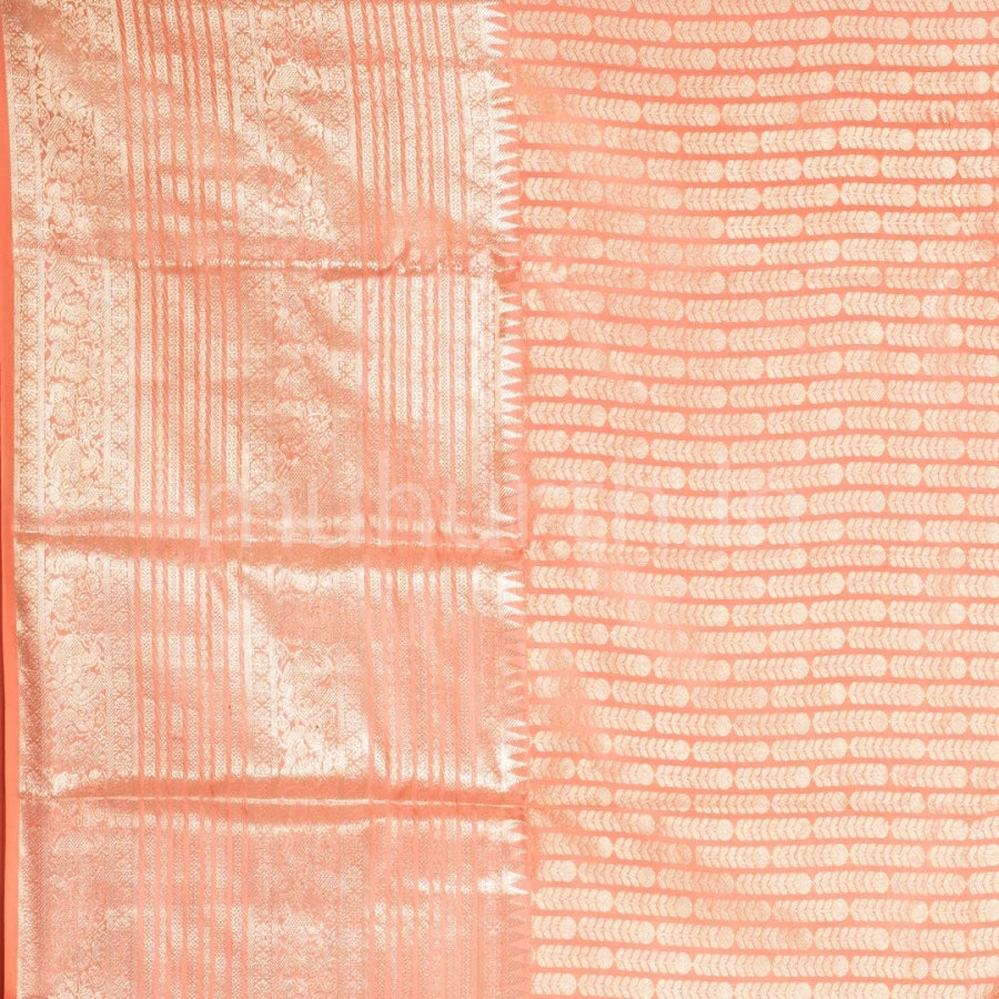 Kanjivaram Peach Silk Saree