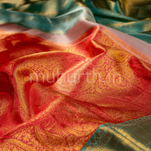 Load image into Gallery viewer, Kanjivaram Peach Silk Saree With Rexona