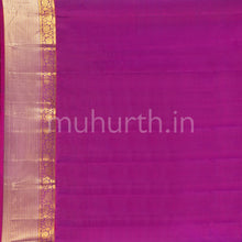 Load image into Gallery viewer, Kanjivaram Peacock Green Silk Saree With Rose