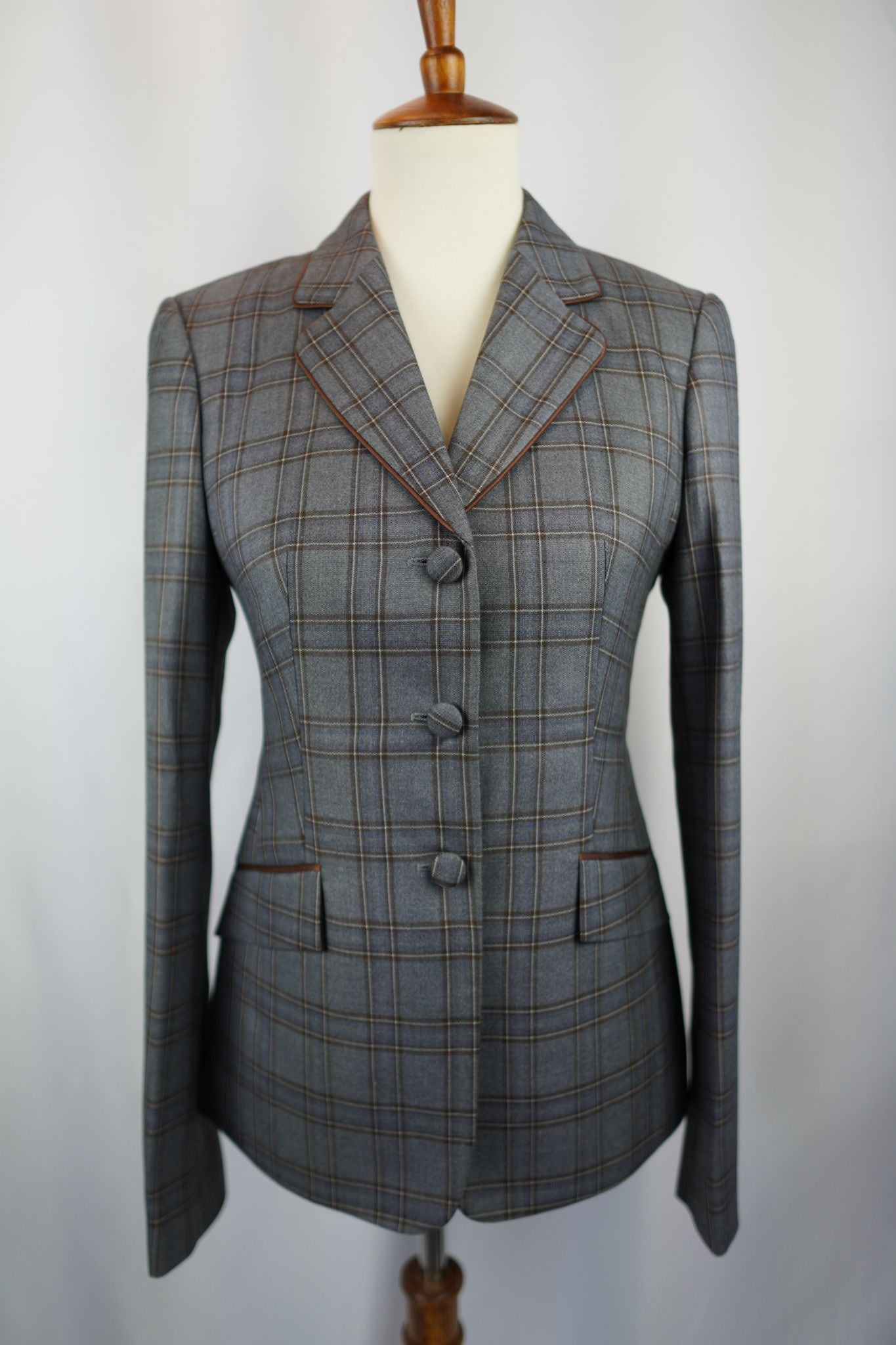 Gray + Brown Plaid Hunt Coat (Various Sizes)