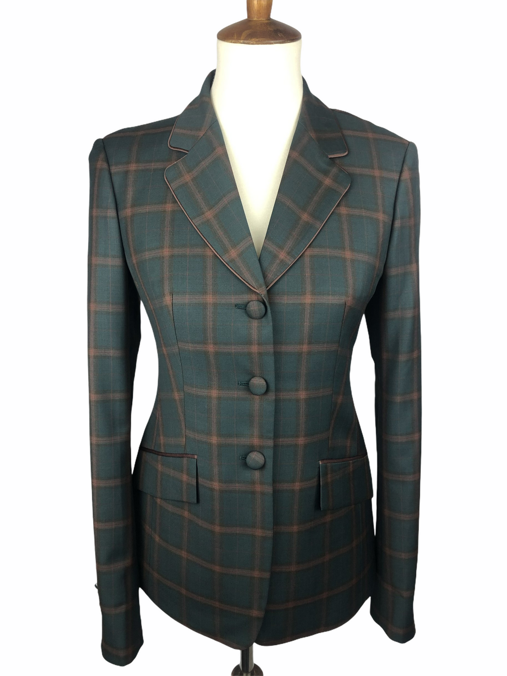Green Plaid Hunt Coat (Various Sizes)