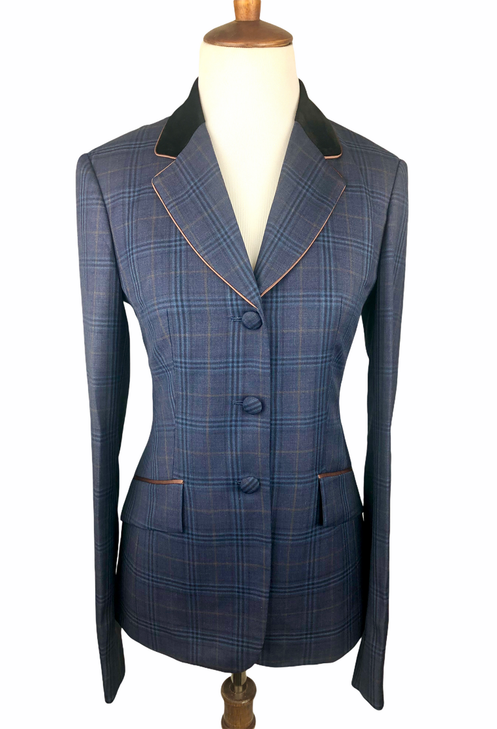 Navy & Chestnut Plaid Hunt Coat (Various Sizes)