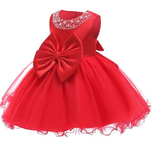 Pearly Princess Dress- Red