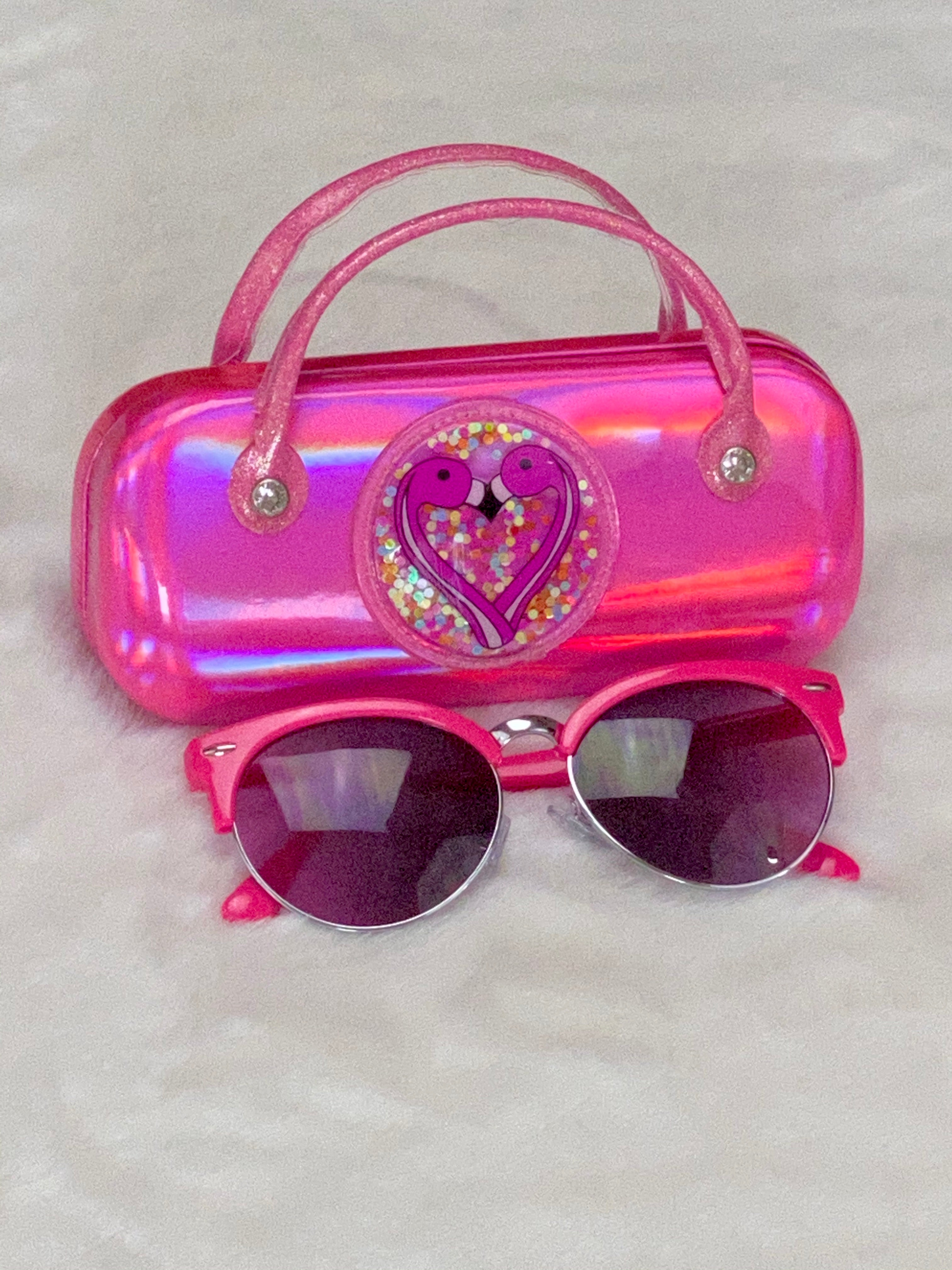 Pink Sunglasses &  Case