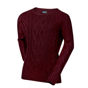 Noahs' Cable Knit Sweater | Wine
