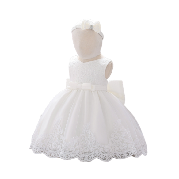 Christening  White Dress - YanuKids.com