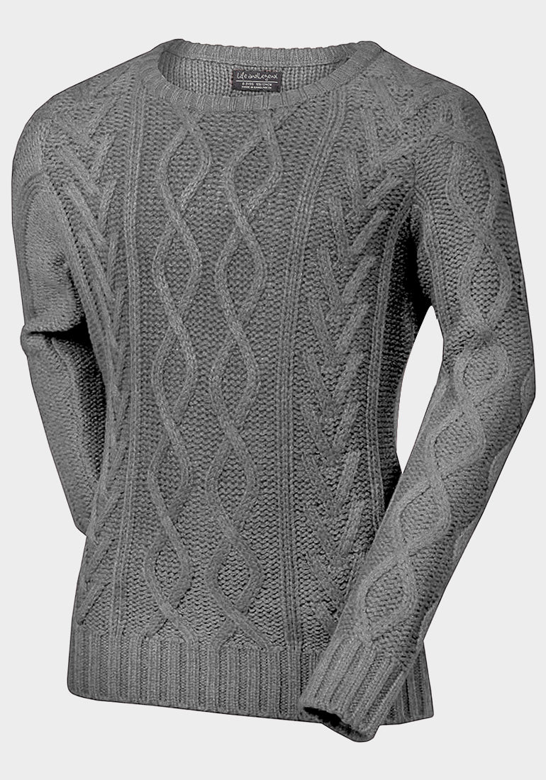 Noahs' Cable Knit Sweater | Light Grey