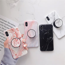 Laden Sie das Bild in den Galerie-Viewer, iPhone Case Marmor & PopSocket 11 PRO MAX, 11 PRO, 11, XR, XS MAX, XS, X, 7/8 PLUS, 7/8