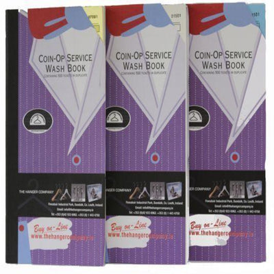 Laundry Ticket Books Assorted Colours