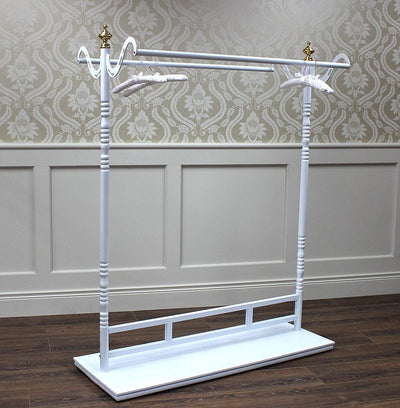 White Double Rail Gondola With Base