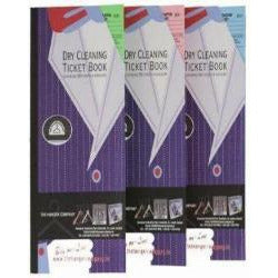 Dry Clean Ticket Books Assorted Colours