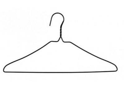 Silver Wire Hangers