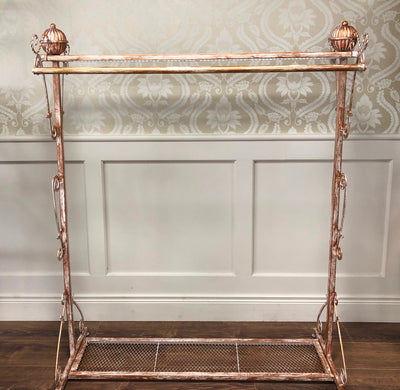 Antique Style Gondola With Display Shelf