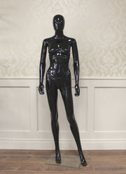 Black Gloss Female Mannequin Hands By Side