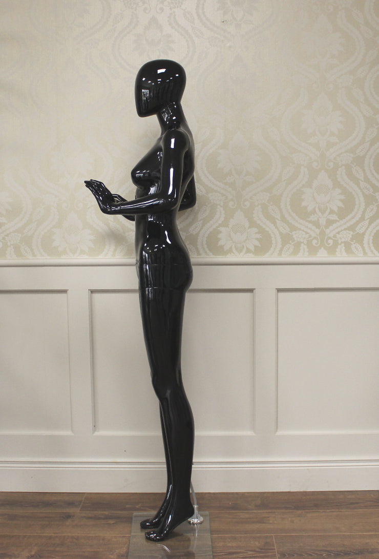 Black Gloss Female Mannequin Hands In Front Ref: M2B