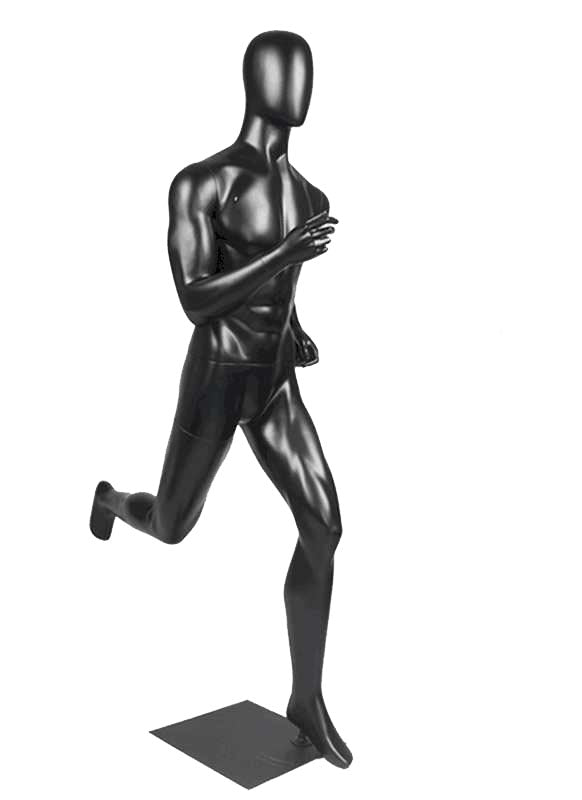 Male Black Running Sports