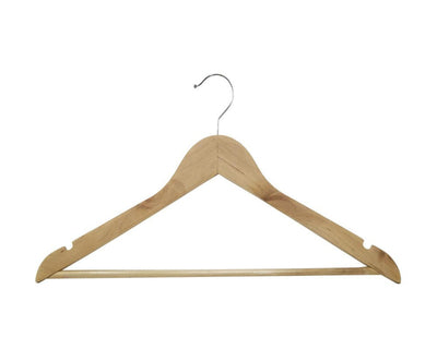 Wooden Tops Hanger With Bar