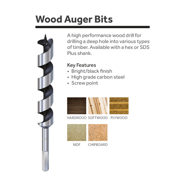 high quality carbon steel auger bits for woodworking