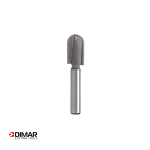 "5mm Radius Router Cutter for Channeling - 10mm Diameter x 18mm - 1/4"" Shank - DIMAR"