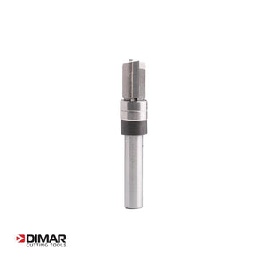 "Double Bearing Guided Profile Two Flute Cutter - 12.7mm Diameter x 25.4mm Depth of Cut - 1/4"" Shank - DIMAR"