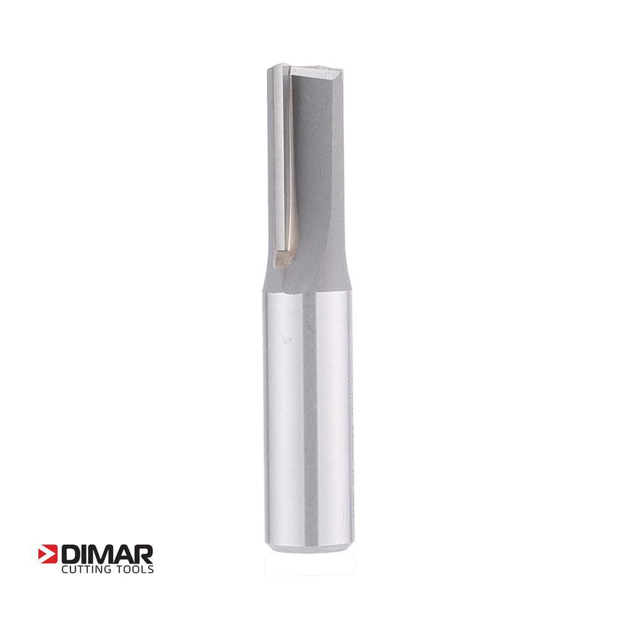 "Straight Two Flute Cutter - 12.7mm Diameter x 25mm Depth of Cut - 1/2"" Shank - DIMAR"