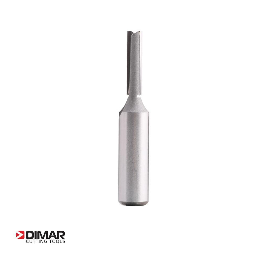 "Two Flute Straight Cutter - 6.3mm Diameter x 25mm Depth of Cut - 1/2"" Shank - DIMAR"
