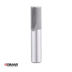 "Straight Two Flute Cutter With Plunge Tip - 15mm Dia x 25mm Depth - 1/2"" Shank - DIMAR"