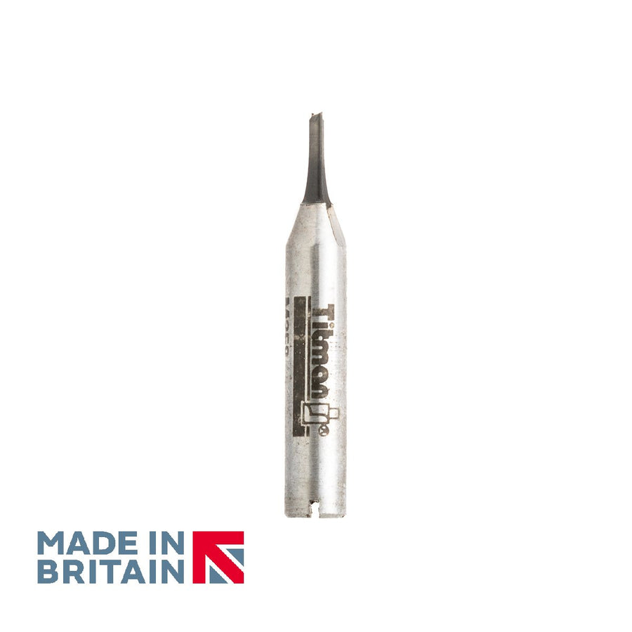 "1/4"" Shank 2.5mm Diameter Double Flute Straight Cutter - Made in Britain by Titman Tools - 429QTC"