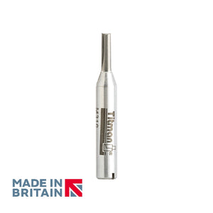 "1/4"" Shank 3mm Diameter Double Flute Straight Cutter - Made in Britain by Titman Tools - 305QTC"