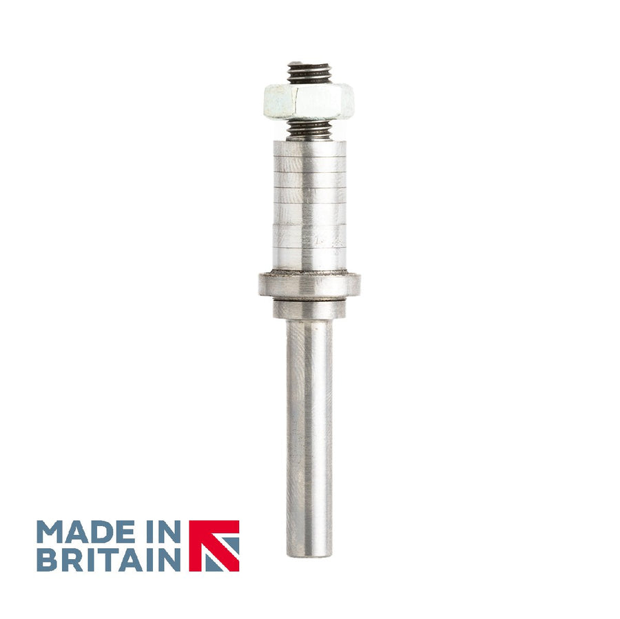 "1/4"" Shank Arbor - No Bearing - Made in Britain by Titman Tools - 3360Q"