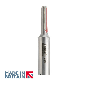 "1/2"" Shank 8mm Diameter Double Flute Straight Cutter - Made in Britain by Titman Tools - 341HTC"