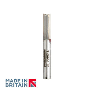 "1/4"" Shank 8mm Diameter Double Flute Straight Cutter - Made in Britain by Titman Tools - 34QTC"