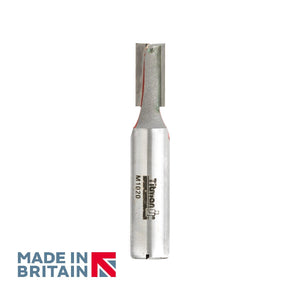"1/2"" Shank 10mm Diameter Double Flute Straight Cutter - Made in Britain by Titman Tools - 36HTC"