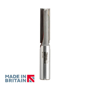 "1/2"" Shank 12mm Diameter Double Flute Straight Cutter - Made in Britain by Titman Tools - 372HTC"