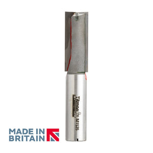 "1/2"" Shank 15mm Diameter Double Flute Straight Cutter - Made in Britain by Titman Tools - 404HTC"