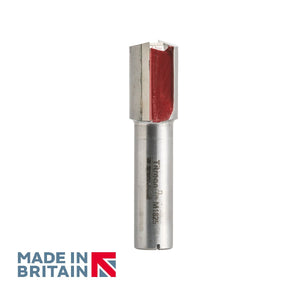 "1/2"" Shank 18mm Diameter Double Flute Straight Cutter - Made in Britain by Titman Tools - 429HTC"