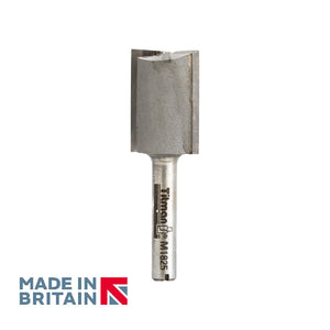 "1/4"" Shank 18mm Diameter Double Flute Straight Cutter - Made in Britain by Titman Tools - 429QTC"