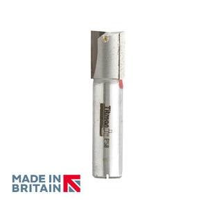 "1/2"" Shank 16mm Diameter Double Flute Straight Cutter - Made in Britain by Titman Tools - 42HTC"