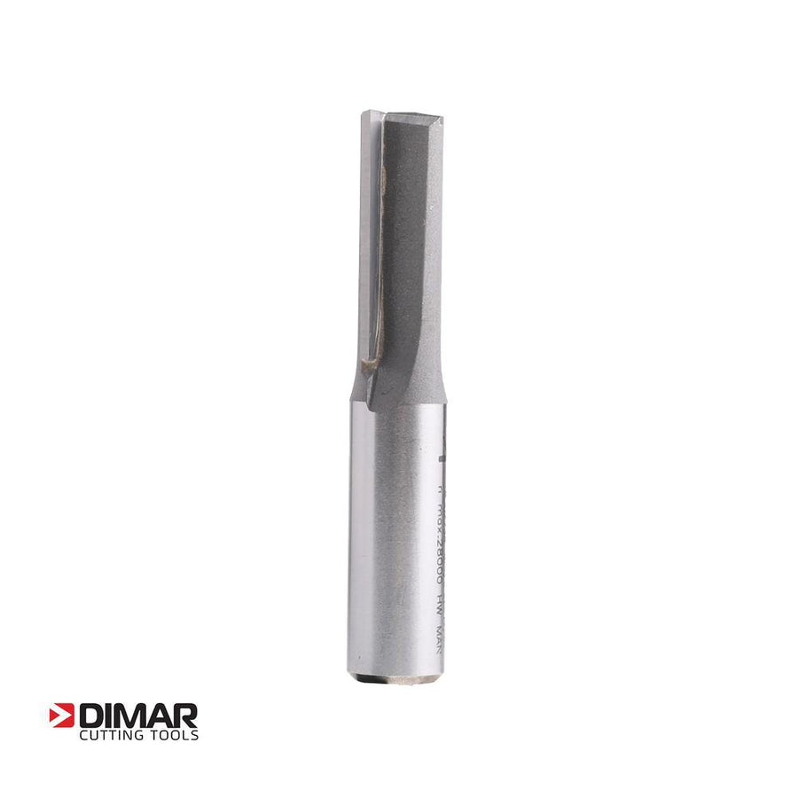 "Two Flute Straight Cutter - 12.7mm Diameter x 32mm Depth of Cut - 1/2"" Shank - DIMAR"