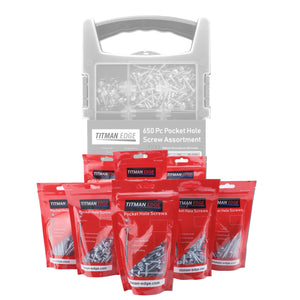 650 Assorted Pocket Hole Screws - Refill Pack for EPHS650CASE