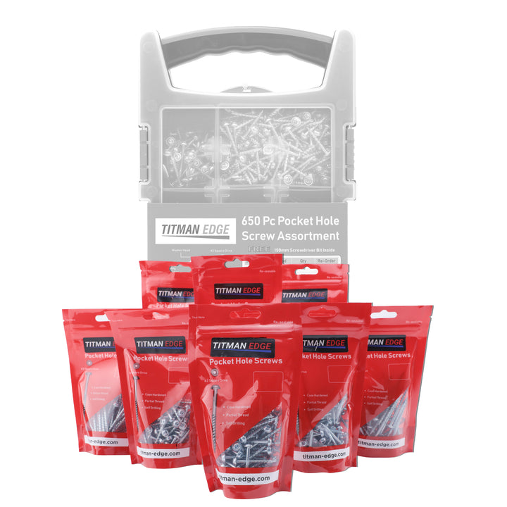 660 Assorted Pocket Hole Screws - Refill Pack for EPHS650CASE